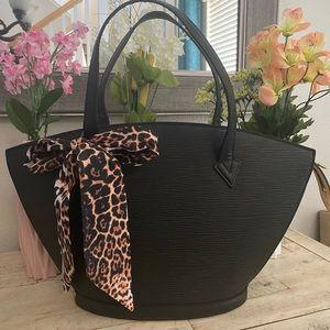 Louis Vuitton Epi Tote Bag - painted black